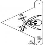 Bricolage coloriages - Drapeau de pirate