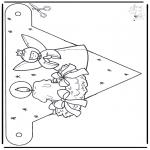 Bricolage coloriages - Drapeau Noël 1