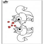 Coloriages d'animaux - écureuil 2
