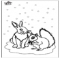 écureuil et lapin