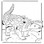 Coloriages d'animaux - Edmontonia