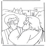 Coloriages Bible - Efata, Jésus guérit