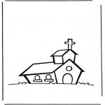 Coloriages faits divers - Eglise