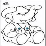 Coloriages d'animaux - Eléphant 10