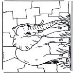 Coloriages d'animaux - Eléphant 2