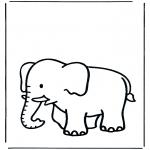 Coloriages d'animaux - Eléphant  3