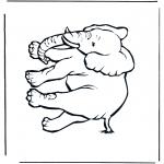 Coloriages d'animaux - Eléphant 4