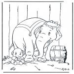 Coloriages d'animaux - Eléphant 5