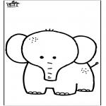 Coloriages d'animaux - Eléphant 7