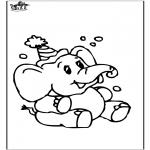 Coloriages d'animaux - Eléphant 8