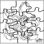 Bricolage coloriages - Elfe - Puzzle