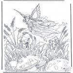 Coloriages faits divers - Elfe volant