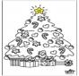 Enfant et arbre de Noël 2