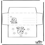 Bricolage coloriages - Enveloppe - Bébé