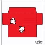 Coloriages Noël - Enveloppe - Bonhomme de neige