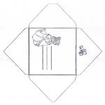 Bricolage coloriages - Enveloppe Cendrillon 1