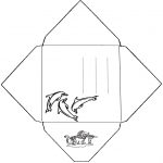 Bricolage coloriages - Enveloppe dauphin