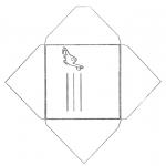 Bricolage coloriages - Enveloppe Dino