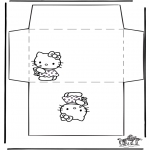 Bricolage coloriages - Enveloppe Hello Kitty