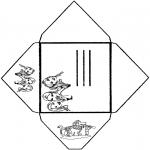 Bricolage coloriages - Enveloppe K3