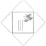 Bricolage coloriages - Enveloppe licorne