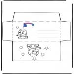 Bricolage coloriages - Enveloppe Primalac