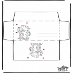 Coloriage thème - Enveloppe Saint-Valentin 1