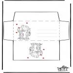 Bricolage coloriages - Enveloppe - Saint-Valentin 1