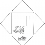 Bricolage coloriages - Enveloppe Winx