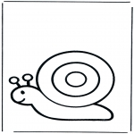 Coloriages d'animaux - Escargot 1
