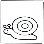 Coloriages pour enfants - Escargot pour les petits