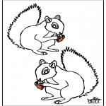 Coloriages d'animaux - Esquilo 4