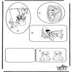 Bricolage coloriages - Etiquettes pour cadeaux - Les 101 Dalmatiens
