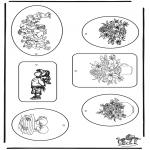 Bricolage coloriages - Etiquettes pour cadeaux