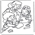 Coloriages pour enfants - Faire cuire
