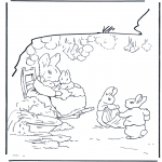 Coloriages faits divers - Famille lapin