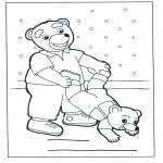 Coloriages pour enfants - Famille ours
