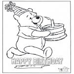 Coloriage thème - Félicitations Winnie
