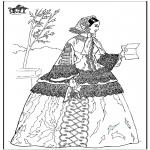 Coloriages faits divers - Femme avec une lettre