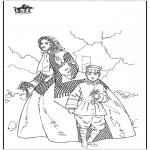 Coloriages faits divers - Femme et enfant