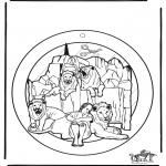 Coloriages Bible - Fenêtre pendentif - Daniel