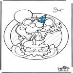 Bricolage coloriages - Fenêtre pendentif de anniversaire