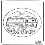 Bricolage coloriages - Fenêtre pendentif de Cars