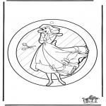 Bricolage coloriages - Fenêtre pendentif de Cendrillon
