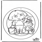 Bricolage coloriages - Fenêtre pendentif de Dora 1