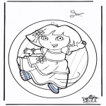 Bricolage coloriages - Fenêtre pendentif de Dora 2
