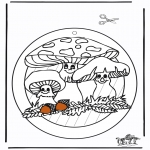 Bricolage coloriages - Fenêtre pendentif de Fungi