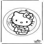 Bricolage coloriages - Fenêtre pendentif de Hello Kitty