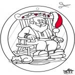 Coloriages Noël - Fenêtre pendentif de Noël 1