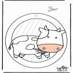 Bricolage coloriages - Fenêtre pendentif de Vache 1